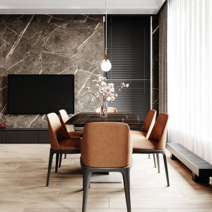 Living room natural stone