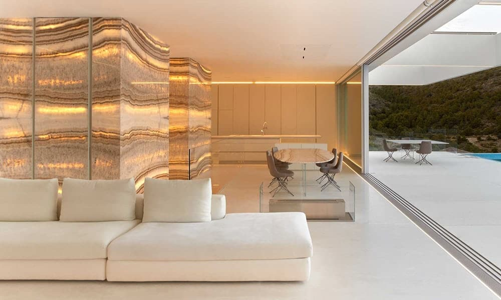 living room natural stone onyx
